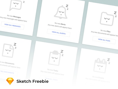 Empty State Status Icons illustration template mockup design web sketch icon freebie free ux ui