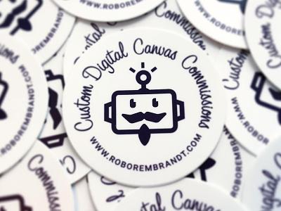 Robo Rembrandt Stickers decal sticker design branding logo