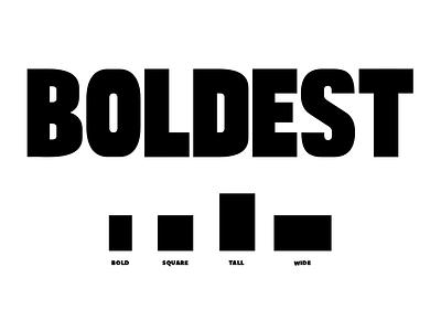 Boldest font family font typography type font design