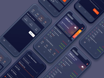 Payoneer Redesign | Dark UI uidesign uiux dark ui bank card online transactions payments payment method payment app card ui card payoneer wallet app bank app banking wallet user experience user interface creative ux ui