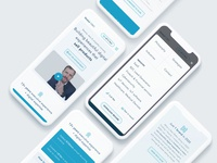 GlobalCMO | Landing Page mobile first mobile friendly responsive website industry appointment landing page design cta menu contact executive web design illustration homepage corporate user experience user interface creative ux ui landingpage