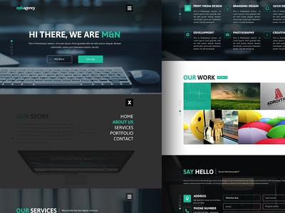 Creative Agency Web Design free PSD agency creative freebie free psd web design user expriance user interface uiux