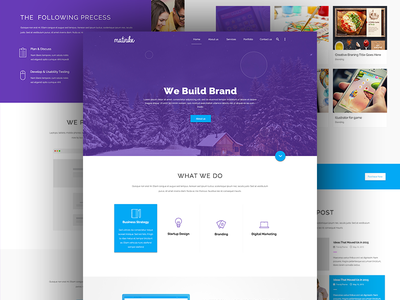 Matrox Material Design material startup restaurant portfolio onepage material design creative corporate construction charity business agency