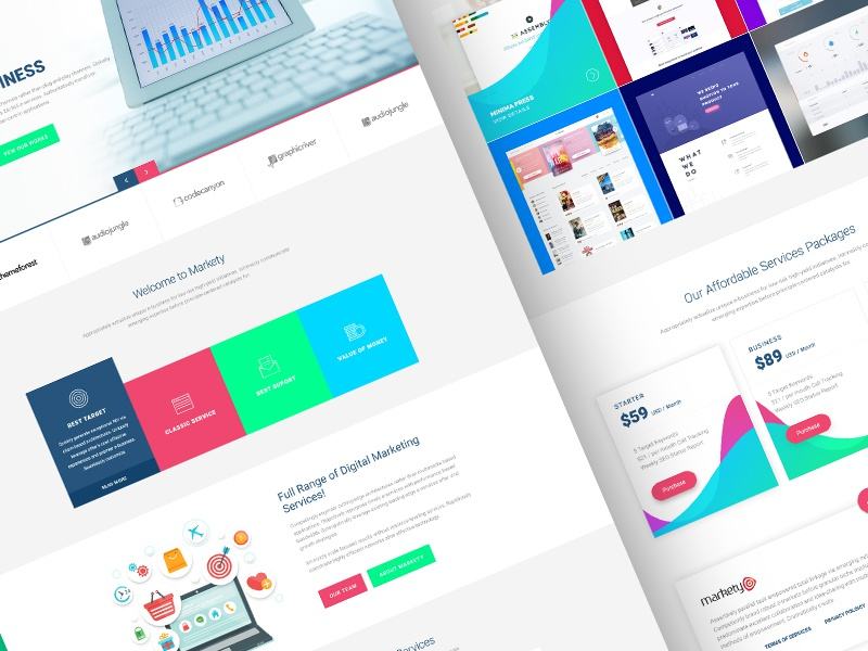 markety by eftakher alam dribbble