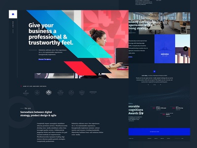 Creative Portfolio dark ui illustration agency homepage portfolio user experience user interface web design creative ux ui