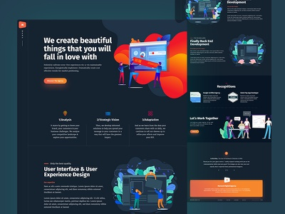 Service Page dark theme dark ui illustration agency portfolio homepage user experience user interface web design creative ux ui