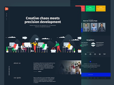 About Us psd clean dark dark theme dark ui homepage illustration agency portfolio user experience user interface web design creative ux ui