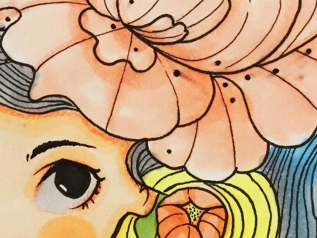 Shepeonie flowers flower illustration sweet pop art surreal art pop anime surrealist surrealism illustration