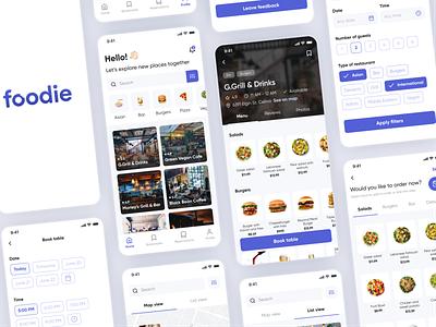Table Booking & Online Ordering App Concept minimalism mobile app simple trendy restaurants design book tables order food app ux ui