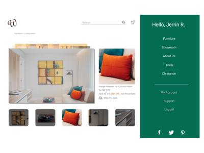 Online Furniture Website Design
