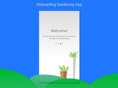 Onboarding Gardening App
