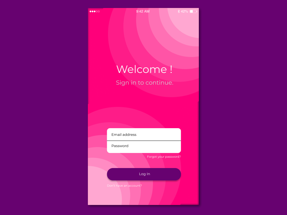 Mobile Sign In Page - gradient sign in application ui mobile figma design