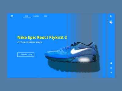 Nike Shoes - Single page Layout