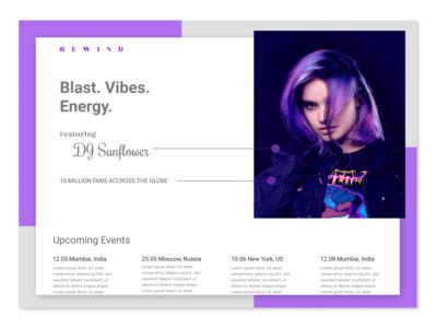 DJ Website- Landing Page