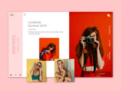 Fashion Lookbook web design