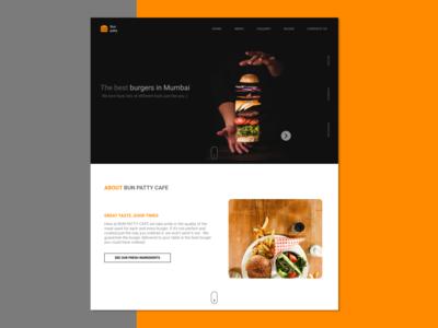 Bun Patty- Burger Cafe Website UI