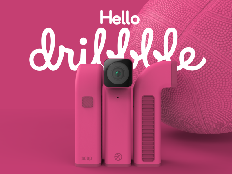 Hello Dribbble keyshot c4d cinema 4d renders render 3d model industrial design product design