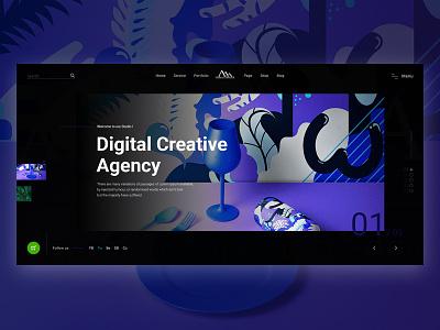 Digital Agency uxdesign digital agency ui web design colorful design agency landing page agency card agency