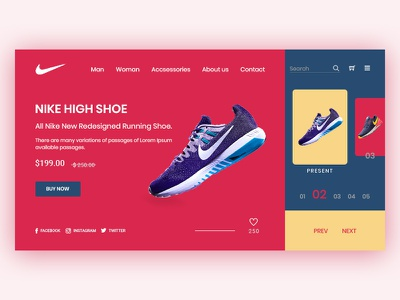 Nike Web Design #_2 ux agency card design uxdesign ui colorful design web design digital agency agency landing page agency