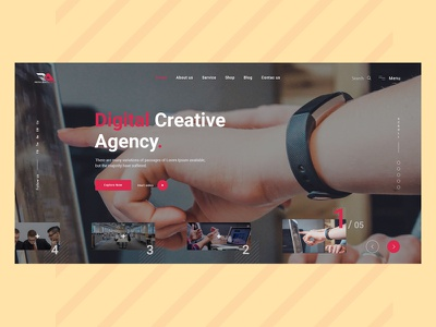 Agency solution #_01 typography ux ui uxdesign minimal clean design colorful design web design digital agency agency landing page agency