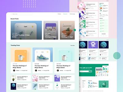 Landing page - Blog Post uxdesign branding minimal clean design typography ux ui colorful design agency landing page digital agency web design graphic design