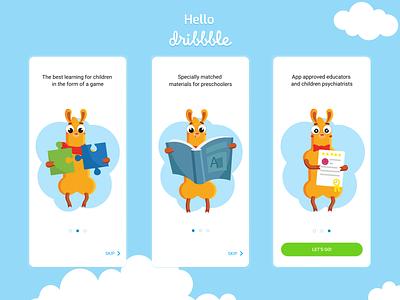 On-boarding app ux illustration design