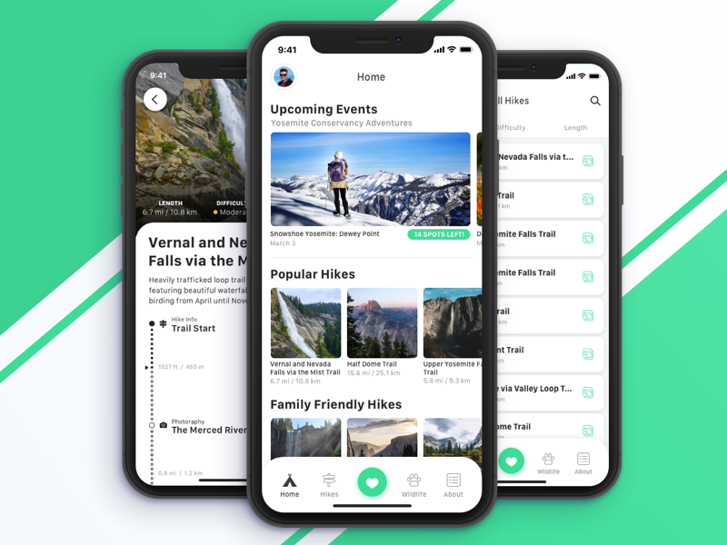 Yosemite Conservancy Guided Hikes & Donation App by Nic