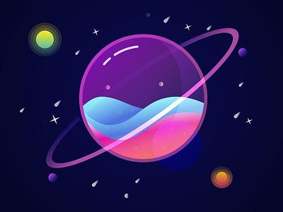 Glass Planet illustrations illustrator