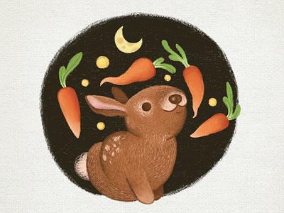 Carrots illustration design childrens illustration characterdesign animals