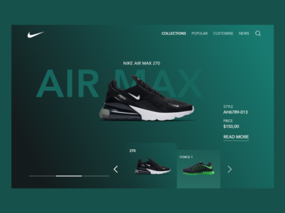 Nike Collections Landing Page - Daily UI 03
