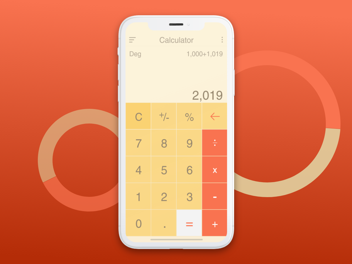 Calculator UI Design dailyui ui design mobile apps ios calculator design app adobe xd
