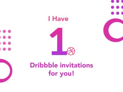1 Dribbble Invitations Giveaway