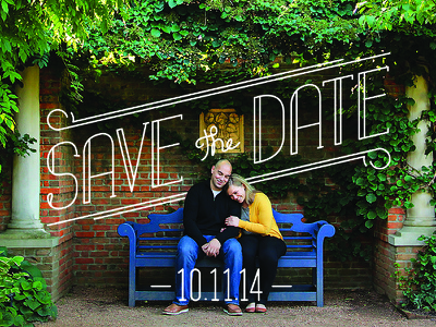 Sister's Save the Date wedding save the date handmand type typography