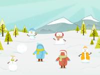 Interactive Snow Scene