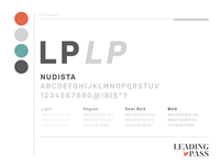 Leading Pass - Brand Typography