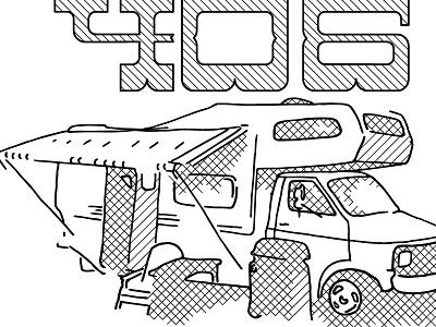 The RV 406 montana illustration design graphic design gestural drawing rv