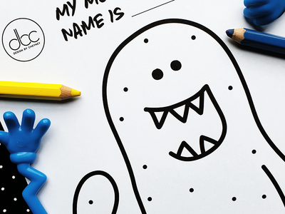FREE Printable A4 Monster Colouring Activity