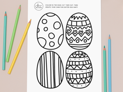 Easter Egg Colouring-In Creative Activity for Children