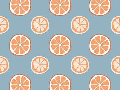 Orange Slices Seamless Pattern Design cute textile seamless design by cheyney sliced slices citrus lemons oranges orange bold color pattern colour bright bold flat illustrator vector illustration design
