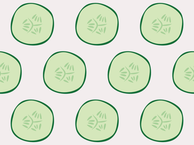 Cucumber Pattern Redbubble Light Dribble