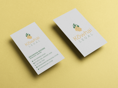 Kowhai Legal Business Card Design