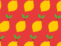 Lemon Pattern Print Society6
