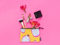 Bright Dragonfruit Print Carry-All Pouch