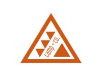 Camp + Co. Orange Triangle Logo