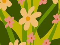 Modern, floral, Spring pattern