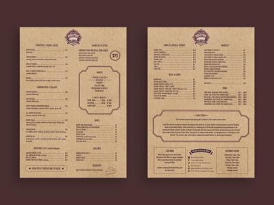 Morpork BBQ Menu Design
