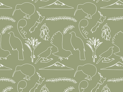 Baby Pattern Design New Zealand Theme