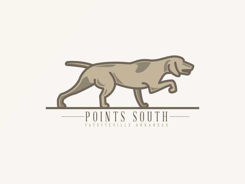 Points South Update mark logo hunting pointer outdoor vizsla dog dogs