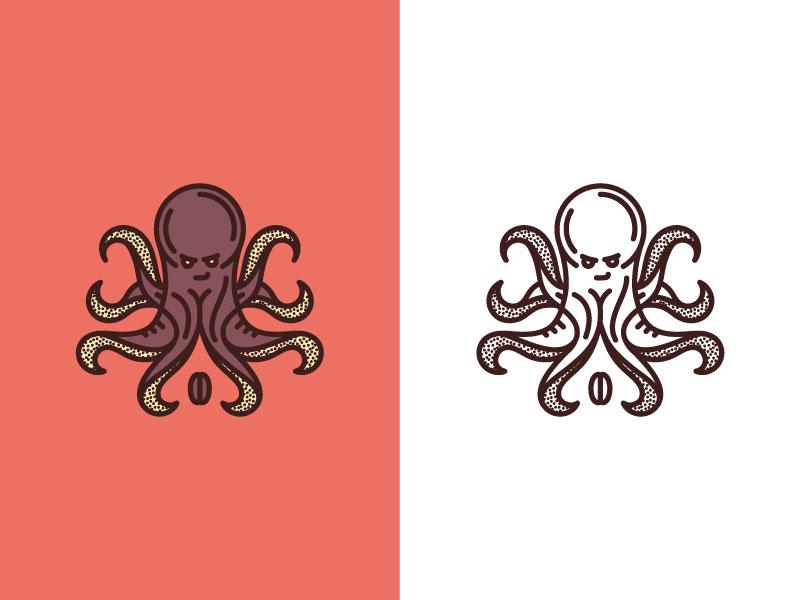 Coffee Co. pattern texture palette coffee animal mark logo shape color illustration