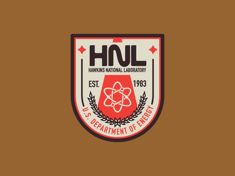 Hawkins National Laboratory mark typography logo badge 80s demogorgon barb stranger things